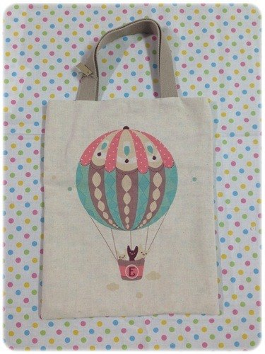 Light green hot air balloon :: available free to go jump on both sides carry bags