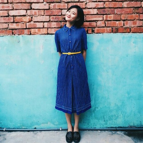 Cotton Blue Dress