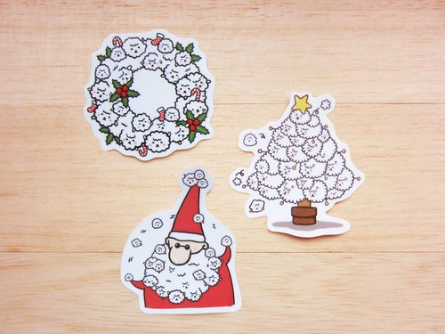 *Mori Shu*Christmas Bubble Sheep waterproof - Hand stickers Group Limited (three in)