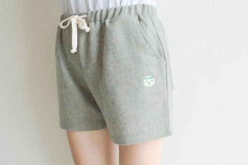 {Family} Kappa demons swimming / soft shorts / green-gray