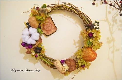 ZAKKA Ziyang not wither leather wreath (green line)