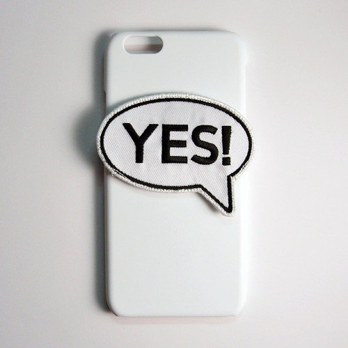 SO GEEK phone shell design brand THE SPEECH BUBBLE GEEK YES OR NO subsection (white)