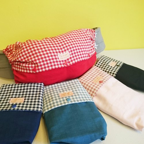Plaid × plain - Sling housing units (colored)