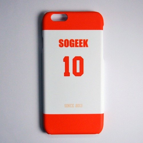SO GEEK phone shell design brand THE JERSEY GEEK jersey back number Customized paragraph 001