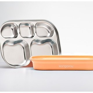 [Picnic Food Pack here] Kangovou Wallabies Stainless Steel Safety Separation Plate - Butter Orange