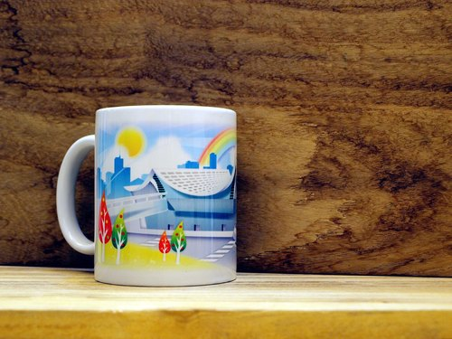 """TAIWAN VIEW‧ Landscape Series"" Taoyuan - Airport. Mug / straight cup (300ml)"