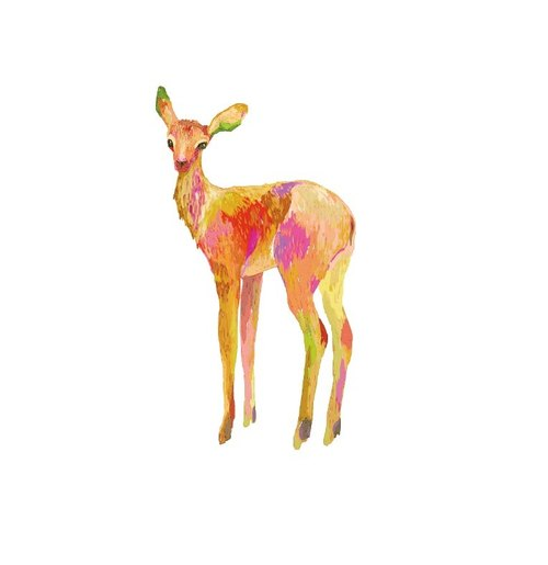 :: Habit postcard deer