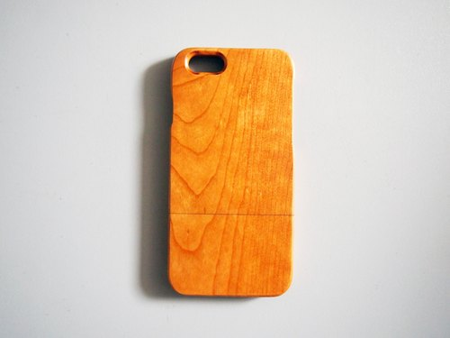 naturaism natural cherry wood phone case shell phone sets iPhone / Samsung / Sony / LG / HTC