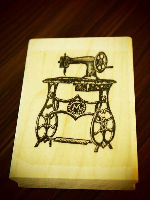 American antique sewing machine manual rubber stamp: Made in USA