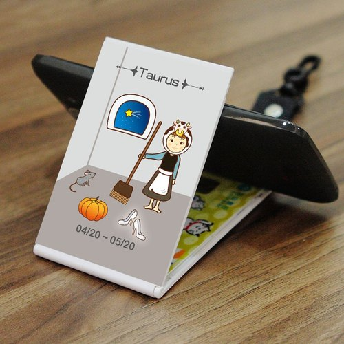 12 constellation 2 in 1 travel card sets of mobile phone base - Taurus [Gift Edition]