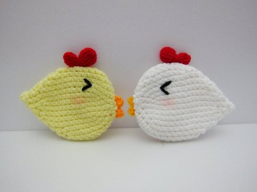 Cute chick. Coasters × 2 (various colors)