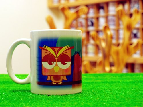 "Guardian Series ""noncute‧ zoo"" Owl (cat Xiaoying) ‧ sleepy brown powder - mug (Straight 300ml)"