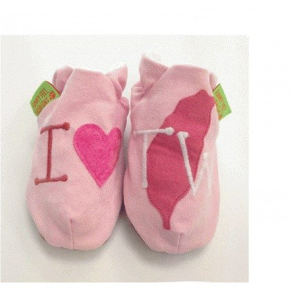[British handmade shoes FunkyFeet Fashions] love Taiwan pink toddler shoes