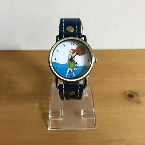 """Art of the fish"" Even exhausted all its efforts, can not meet everyone, so brave to do their own leather strap watch the best holiday gift illustration outfit jewelry watches --W0009"
