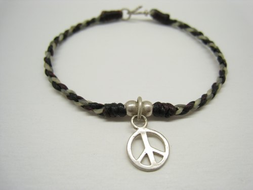 ‧ Hands x Irregular wax line □ ■ 925 Silver □ ■ peace