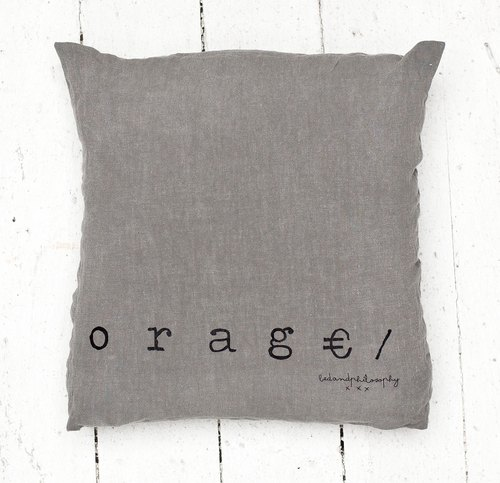 Bed and Philosophy - 100% linen pillow - Molly series (thunderstorm gray / 35x35cm)