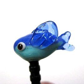 Flying Fish / glass phone dust plug
