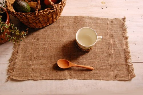 "Earth tree fair trade & Eco- ""Home Goods Series"" - hand-woven linen placemats (color)"