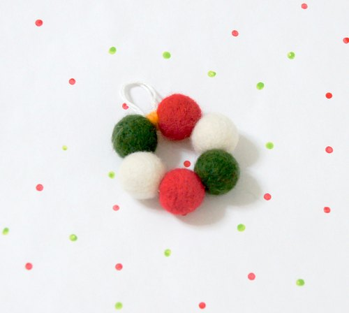 Christmas gift. Limited winter wool felt ornaments