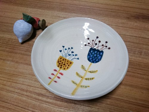 Painted Flower Ceramic plate