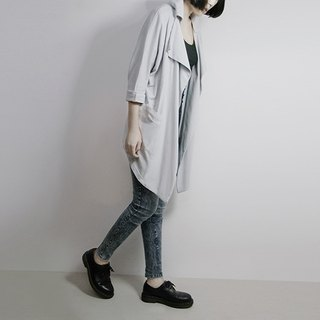 I. A. N Design special three-dimensional gray-collar jacket organic cotton Organic Cotton