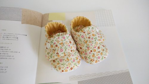 Ming Huang Floral births gift baby shoes Baby Shoes (spot 12 cm)