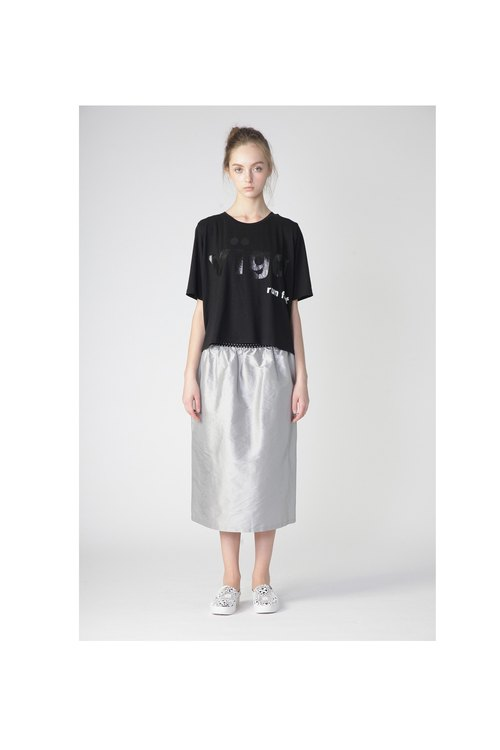 1501F0816 (Silver Straight Skirt)