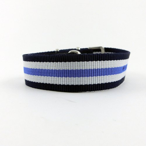 20MM blue sky blue lines between nylon belt