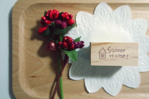 Hand carved stamp / Text Series / sweet home