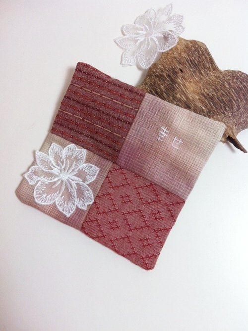 Happy traveler. Hanami - embroidery happy spell color square coasters