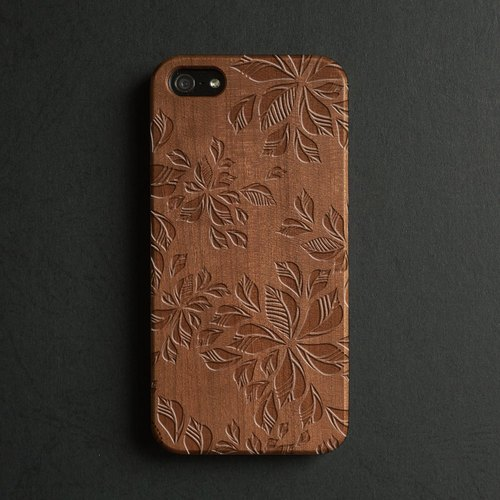 Real wood engraved iPhone 6 / 6 Plus case 041
