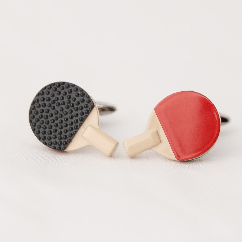 乒乓球拍袖扣 TABLETENNIS RACKET CUFFLINKS