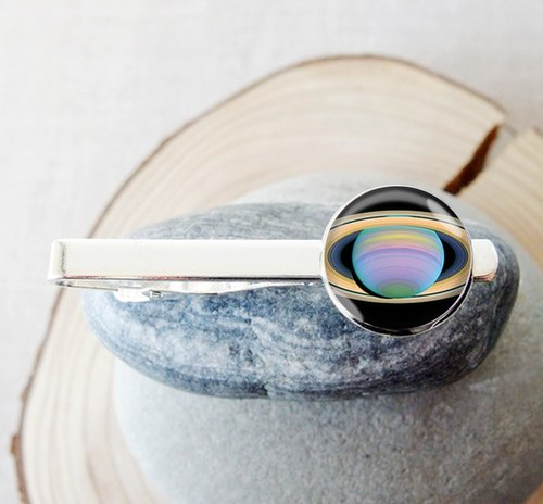 Saturn - tie clip men's fashion accessories ︱ ︱ ︱ father birthday gift groom accessories