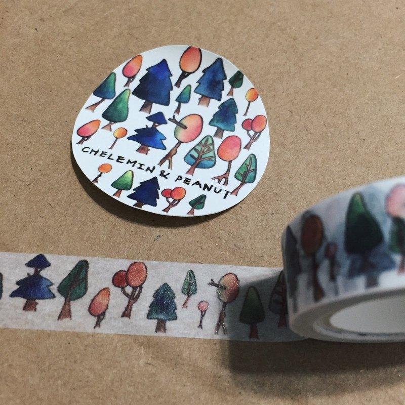 彩樹森林滿版紙膠帶 chelemin&peanut