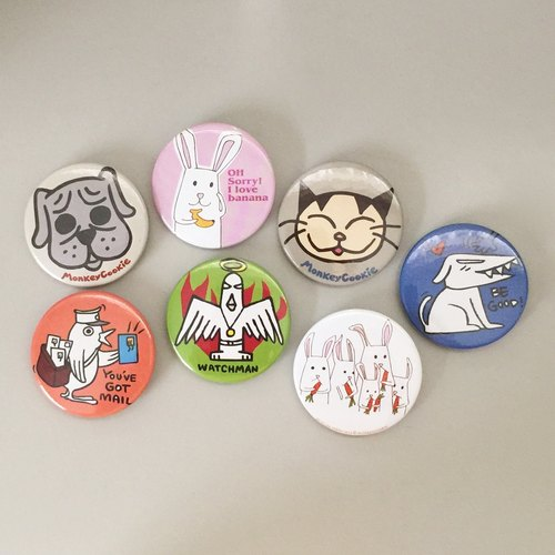 "Badge group ""Animal"" series into 7"