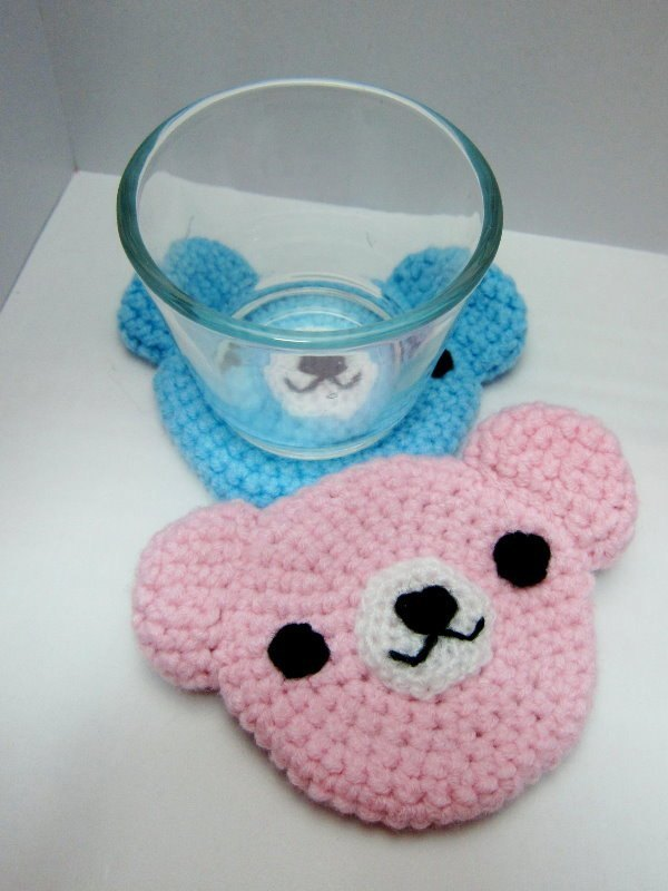 Teddy Bear. Coasters (a variety of colors)