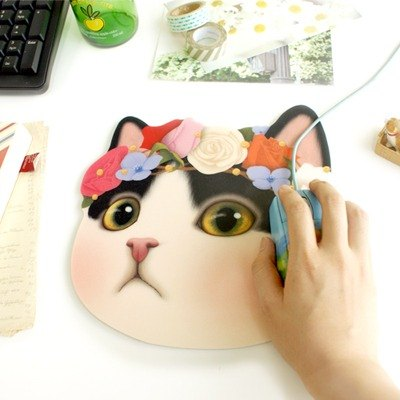 Choo choo sweet cat friends mouse pad _Secret night (J1410302)