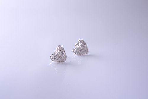 Sweet Heart Silver earrings