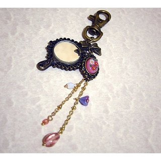 Sided hand mirror Charm - Pink