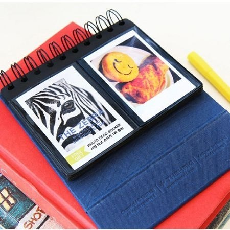 Dessin x Thehaki- be vertical ring mounted zebra mini Polaroid phase of the (60) - blue, THK26383