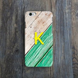 Personalised, Letter, Wood Print, - Designer iPhone Case. Pattern iPhone Case. One Little Forest