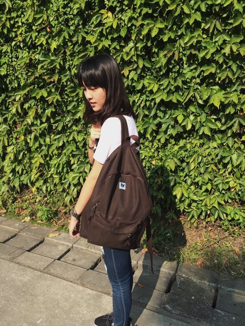 Canvas Backpack: Chocolate: