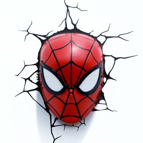 3D modeling wall lamp - Spider-Man mask