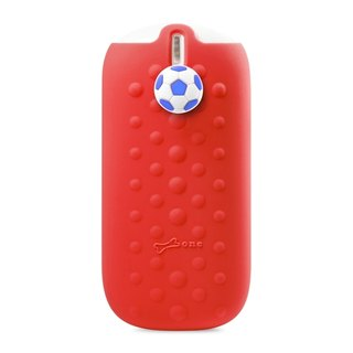 Bone / funny button action Power 5200mAh- Football - Red