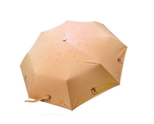 Puputraga's art / tea Ah Chai / orange / anti-uv sun ultralight receive automatic umbrella