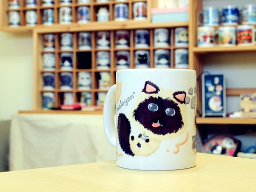 """NONCOOL‧ Cool farming"" Himalayan cat. Mug / straight cup (300ml)"