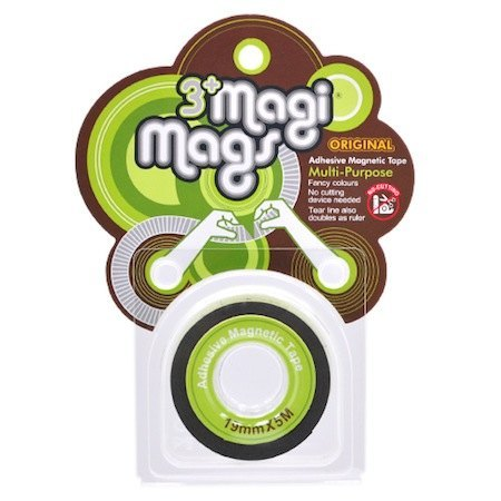 3+ MagiMags Magnetic Tape     19mm x 5M Neon.Green