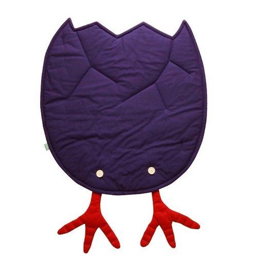 Welcome to the world_ purple blanket eggshell chicken feet _