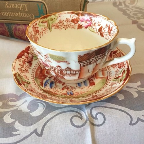 Britain made a century antique coffee cup set / flower cup group
