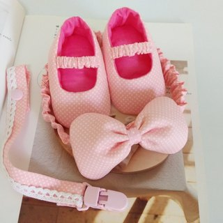 Foundation Shuiyu births gift baby shoes + headband + pacifier clip